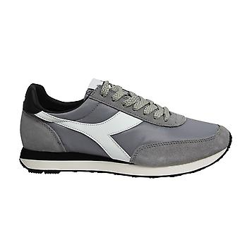 Diadora Heritage Koala Grey Leather Low Lace Up Mens Running Trainers C3666