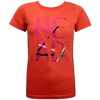 Head Womens Graphic T-Shirt Short Sleeve Top Coral 814214 CO