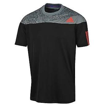 Adidas Vastaus Musta Harmaa Miesten Polyesteri Tennis Tee T-paita S09371 UA93