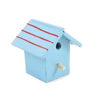 Puppen Haus bemalt Holz Vogel Haus Box Miniatur Garten Zubehör
