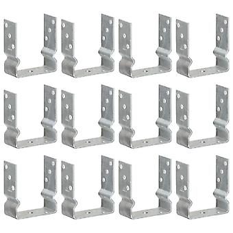 Post carrier 12 pcs. silver 12×6×15 cm Galvanized steel