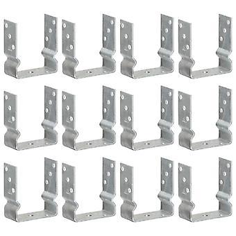 Pfostenträger 12 Stk. Silbern 12×6×15 cm Verzinkter Stahl