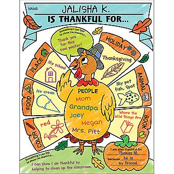 Personal Poster Set: I Am Thankful!, Grades K-2