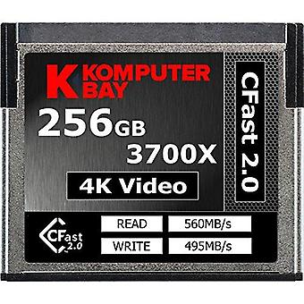 Komputerbay professional 3700x 256gb cfast 2.0 card (do 560mb/s read and do 495 mb/s write) 25