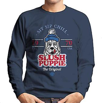 Slush Puppie Retro Sit Sip Chill Mænd's Sweatshirt