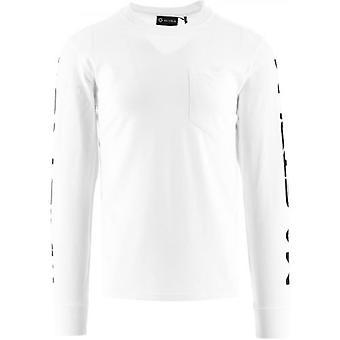 MA.STRUM White Sleeve Print T-Shirt