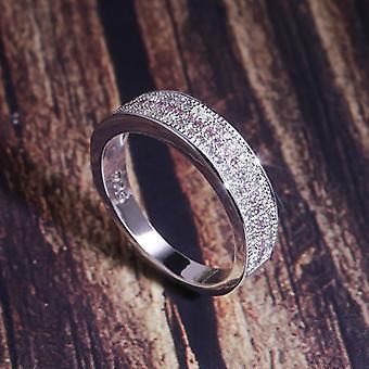 Hopea sormus pyöreä safiiri Zircon, jalokivi hieno korut, hääjuhlat