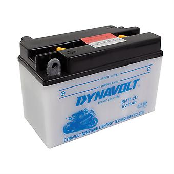 Dynavolt 6N112D Conventional Dry Charge Battery With Acid Pack