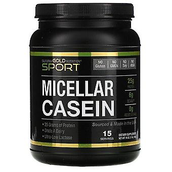 California Gold Nutrition, Micellar Casein Protein, Unflavored, Slow Absorption, 16 oz (454 g)