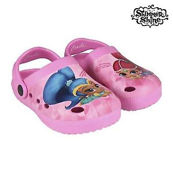 Beach sandals shimmer and shine 73027 pink