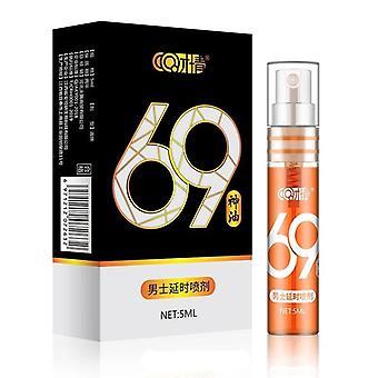 セックス遅延スプレー使用抗射精延長 60 分陰茎の丸薬 (黒)