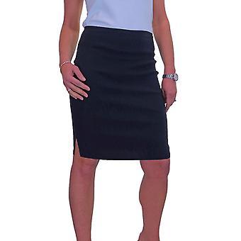 Mujeres's Stretch Bodycon Lápiz Falda Niñas Escuela Uniforme Damas Trabajo Oficina Hendidura Rodilla Longitud 6-18