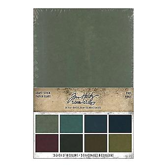 Idea-ology Tim Holtz Kraft-Stock Stack Cool