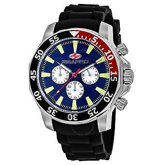 Seapro Scuba Explorer Chronograph Quartz Blue Dial Men's Watch SP8331
