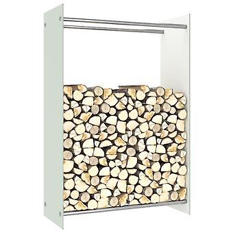 Brennholzregal Weiß 80x35x120 Cm Glas