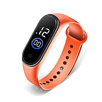 Wodoodporny cyfrowy zegarek na rękę z datą kwarcowego alarmu LED