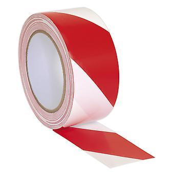 Sealey Hwtrw DANGER AVERTISSEMENT Tape 50 Mm X 33Mtr rouge/blanc