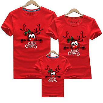 Famiglia Nuovo Natale Papà Mamma Bambini T-shirt