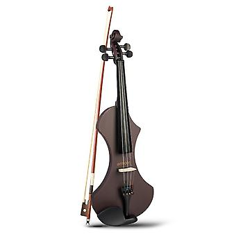 4/4 Full-size Electric Violin, Solid Wood With Carrying Bag