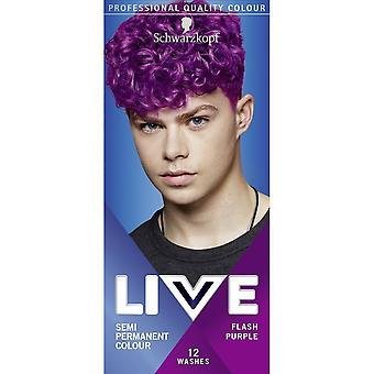 Schwarzkopf LIVE UB Mens Hair Colour Dye Flash Purple 094 - Pack of 3