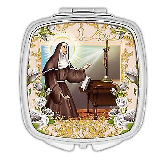 Gift Compact Mirror: Saint Rita of Cascia Catholic