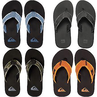 Quiksilver Boys Kids Monkey Abyss Summer Beach Thongs Sandals Flip Flops