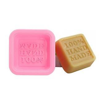 Square silicone soap mold - Hand made 1 unit