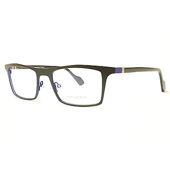 Face A Face LUCAS 3 9401 Aluminum Eyeglasses Matte Black Blue France