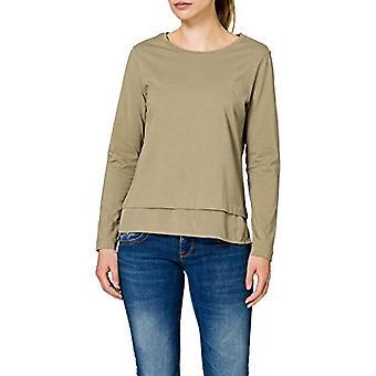 edc by Esprit 021CC1K307 T-Shirt, 345/kaki Chiaro, S Woman