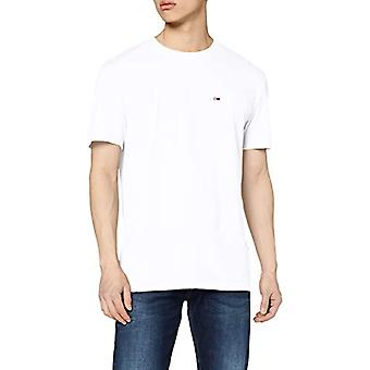 Tommy Jeans Tjm Solid Jersey Tee Short Sleeve T-shirt, White Ybr, Large Man