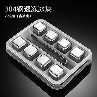 304 Stainless Steel Ice Wine Stone Metal Quick frozen Cold Beer Ice Cube Ice Cube Ice Tray Ice Mold