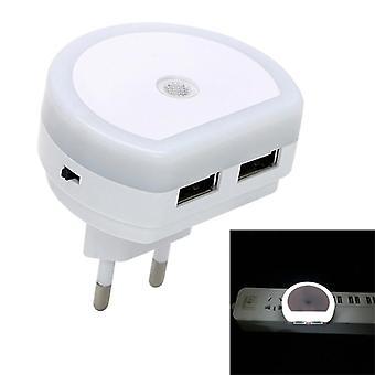 Dual USB port töltő érzékelő fényvezérlés hálószoba fali lámpa