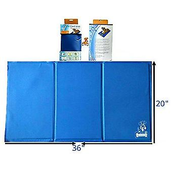 Mr. Peanut's Pet Chill Pad - Pressure Activated Cooling Non-Toxic Gel Pet Mat