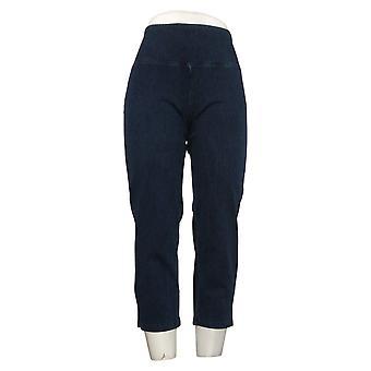 Kvinder med kontrol Regelmæssig Mave Control Prime Stretch Crop Jeans Indigo Small