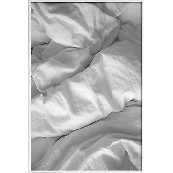 JUNIQE Print - Perfect Day in Bed - Amour & Romance Poster en Gris & Noir