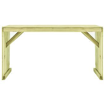 vidaXL Puutarhapöytä 150×87×80 cm Kyllästetty mäntypuu