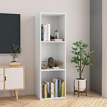 Muebles de estantería/TV 36x30x114 cm Aglomerado Blanco