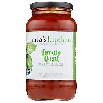 Mias Kitchen Sauce Psta Tom Basil, Case of 6 X 25.5 Oz