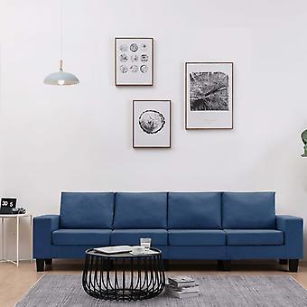 vidaXL 4-Sitzer-Sofa Blau Stoff