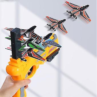 Kinderen Vliegtuigen Lancering Platform Pistool Outdoor Sports Meerdere spelers Interactief Spel One-Key