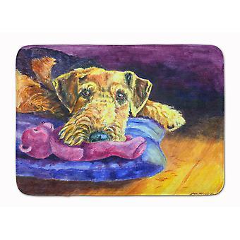 Caroline'S Treasures Airedale Terrier Teddy Bear Floor Mat, 19 X 27, Multicolor