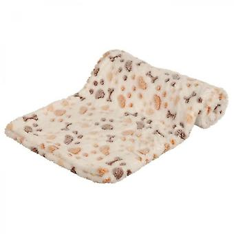 Trixie Lingo Blanket - 100x75 Cm - White And Beige - For Dog