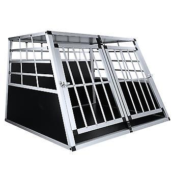 Yunyun Ordinary Flat Large Double Door Aluminum Alloy Pet Supplies Dog Cage