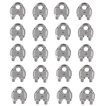 M5 Cable Ties U Stirrup Bolt Cable Clip 304 Stainless Steel Cable Clamp Saddle Wire Rope Clips20pcs