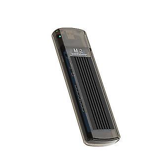 10 Gb/s USB C až M.2 M – transparentní šedá skříň pevného disku KEY