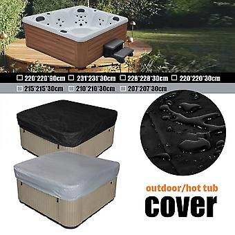 7sizes Outdoor Square Hot Tub Top Cover Waterester Polyester Square Hot Tub Cover Outdoor Spa Cover Canopy Dust Cover