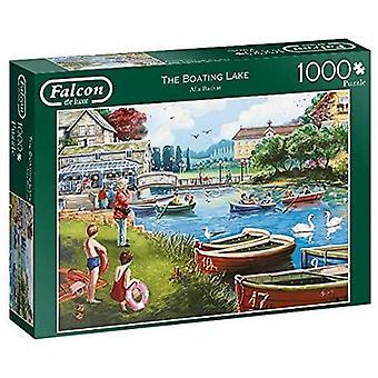 Jumbo 11252 Falcon de Luxe-The Boating Lake 1000 Piece Jigsaw
