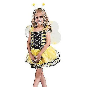 Carnival Halloween Cosplay Costume Party Stage Costume Girl Cute Little Bee Suit(M)