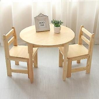 1 Table +2 Chairs Sets- Wood Furniture Study Table For Kid''s