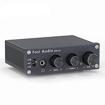 Fosi Audio Q4 Mini Stereo Usb Gaming Dac & Headphone Amplifier Audio Converter Adapter For Home/desktop Powered/active Speakers
